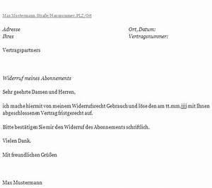 Wohnung Kündigen Per Email : muster k ndigungsschreiben abo zum download ~ Lizthompson.info Haus und Dekorationen