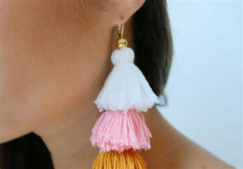 diy tassel earrings  pair  spare