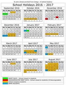 School Holiday Calendar 2017