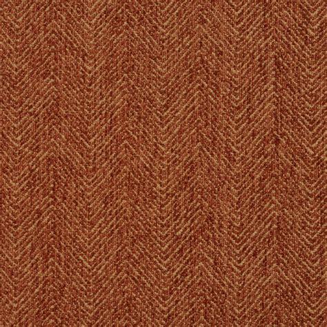 Upholstery Fabric Orange by E732 Burnt Orange Herringbone Woven Textured Upholstery Fabric