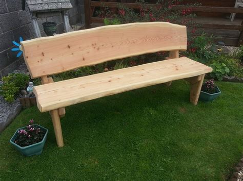 Garden Furniture Seats by Simply Rustic Garden Seat Warm 2 Wood Logs And