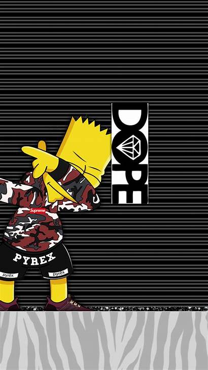 Iphone Supreme Simpson Dope Wallpapers Bart Simpsons