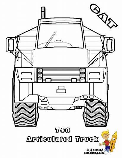 Coloring Construction Equipment Printable Truck Sheets Cat