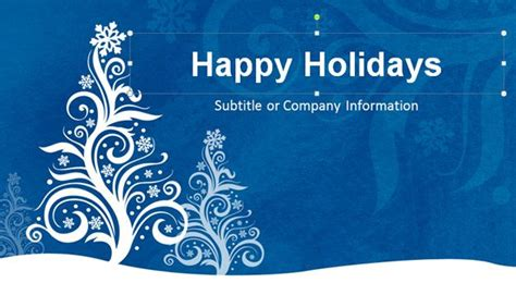 happy holidays powerpoint template christmas