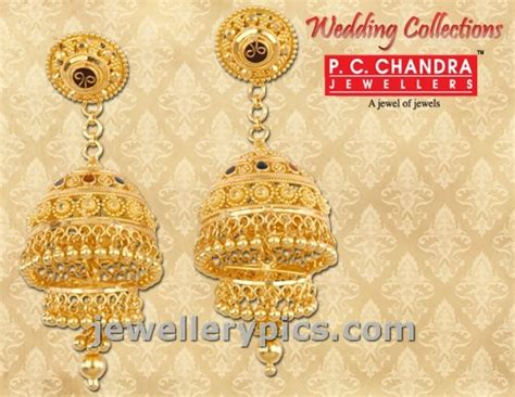 pc chandra gold earrings wedding collection jewellery design pictures pc chandra gold earrings wedding collection