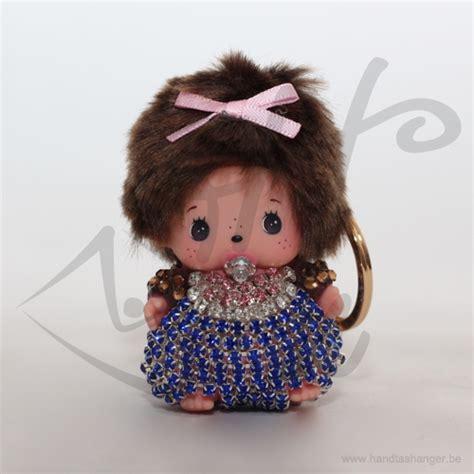 monchichi sleutelhanger  handtas accessoire roze