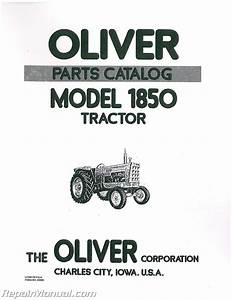 Oliver 1850 Tractor Parts Manual