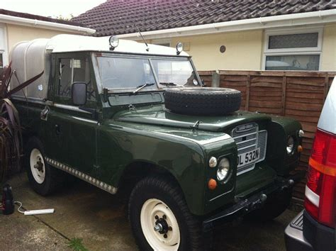 Land Rover Series 3, Truck Cab, Ifor Williams Back. 1975