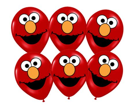 elmo sesame street printable faces  birthday decor