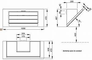 Escalier Ajustable En Hauteur : hotte d corative murale 110cm de avec clairage par led ~ Premium-room.com Idées de Décoration