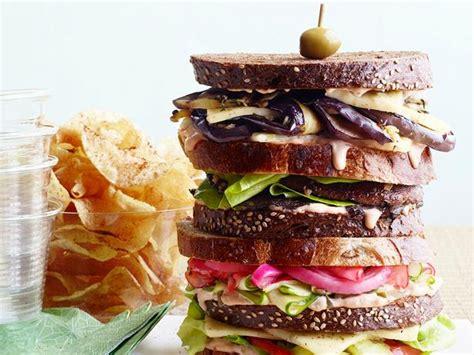 veggie dagwood sandwiches recipe food network kitchen