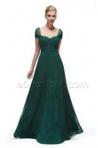 forest green bridesmaid dresses cap sleeves forest green bridesmaid dresses