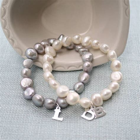 classic pearl bracelet personalised pearl classic bracelet by kathy jobson