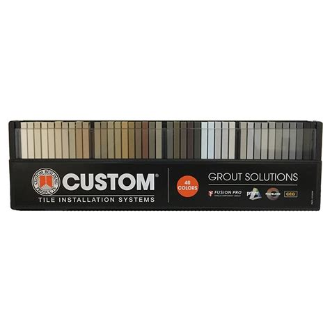 custom building products grout solutions color sle kit 40 colors hdpgk the home depot