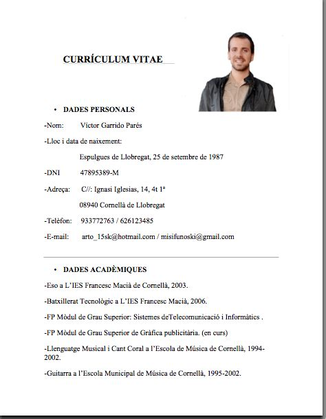Lebenslauf Einfach by Simple En Word Curriculum Vitae Simple Curriculum