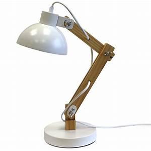 Lampe Zum Klemmen : tischlampe schreibtischlampe tischleuchte b rolampe holz metall e27 40w h50cm ebay ~ Orissabook.com Haus und Dekorationen