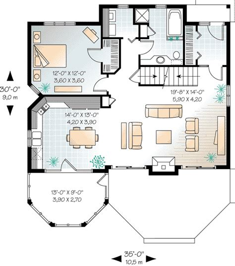 Craftsman Style House Plan 65518 with 3 Bed 2 Bath