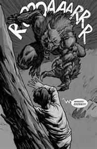 Werewolf Comic Art
