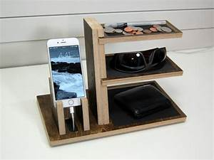 Charging Station Organizer Single Phone and Valet by