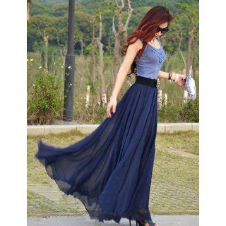 rosella maxi rosella blue plain flared skirt for buy rosella