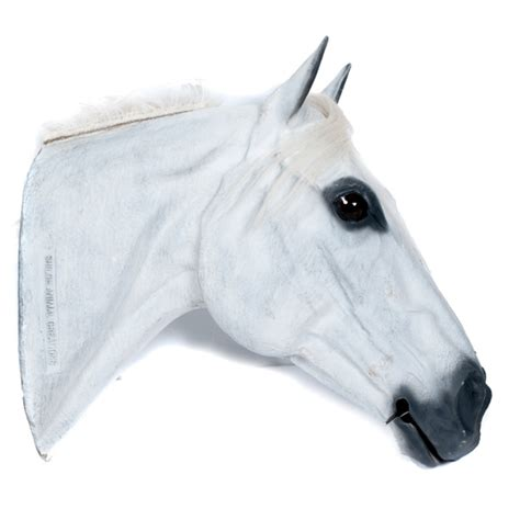 life size plastic white horse head display mannequin