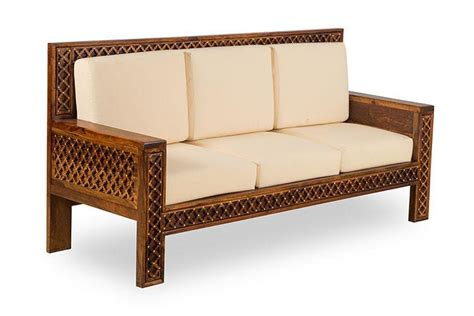 Contemporary Solid Wood Sofa Set Collection by Buy Solid Wood Brass Royal Sofa Set B In India