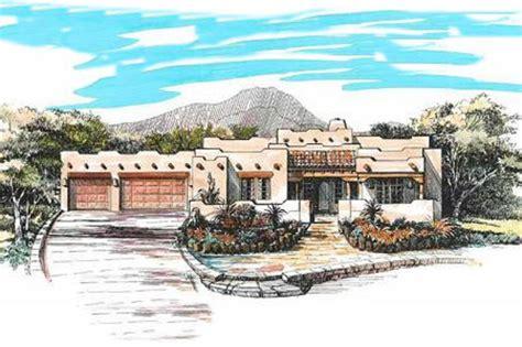 adobe southwestern style house plan  beds  baths  sqft plan