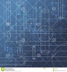 Technical Drawing Abstract Background Stock Vector - Image ...