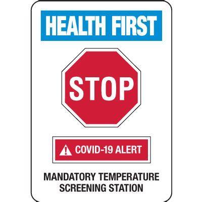 temperature screening station covid  signs seton canada