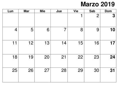 calendario marzo   imprimir planificador