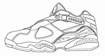 Jordan Coloring Air Pages Jordans Shoes Shoe