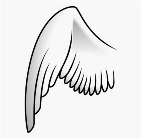 library  cartoon angel wings picture black  white