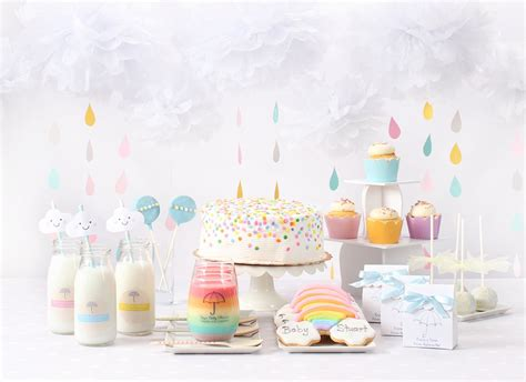 rainbow baby shower easy diy decorating ideas for a clouds rainbow baby