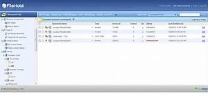 edms software screenshots filehold With web document management software