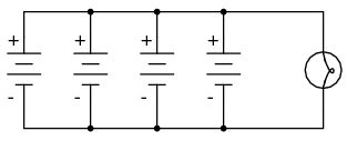 Parallel Batteries Circuits Electronics Textbook