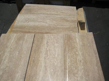 rustico vein cut  polished filled travertine tile