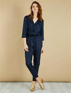 Combinaison Pantalon Femme Bleu Marine : combinaison fluide jacquard femme bleu marine kiabi 15 00 ~ Dallasstarsshop.com Idées de Décoration