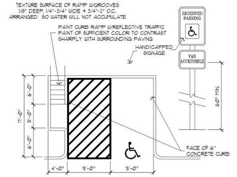average width of a parking space handicap parking space dimensions connecticut google search standards pinterest