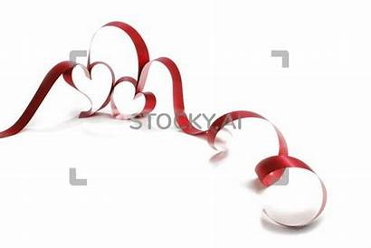 Heart Shaped Background Ribbon Clear Sparkling