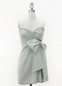 green pinstripe sweetheart dress with side bow judith With pinstripe wedding dress