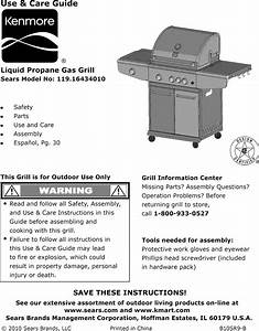 Kenmore 11916434010 User Manual Gas Grill Manuals And