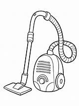 Vacuum Cleaner Coloring Printable sketch template