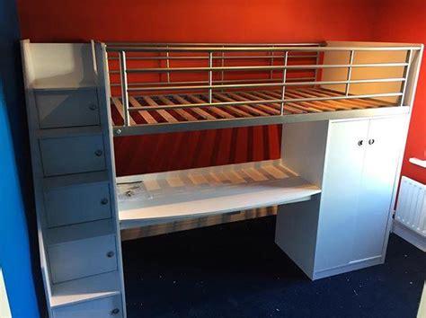 childs cabin bed  desk assembly lancing flat pack