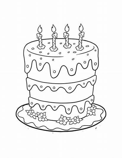 Kue Mewarnai Gambar Tahun Ulang Cake Birthday