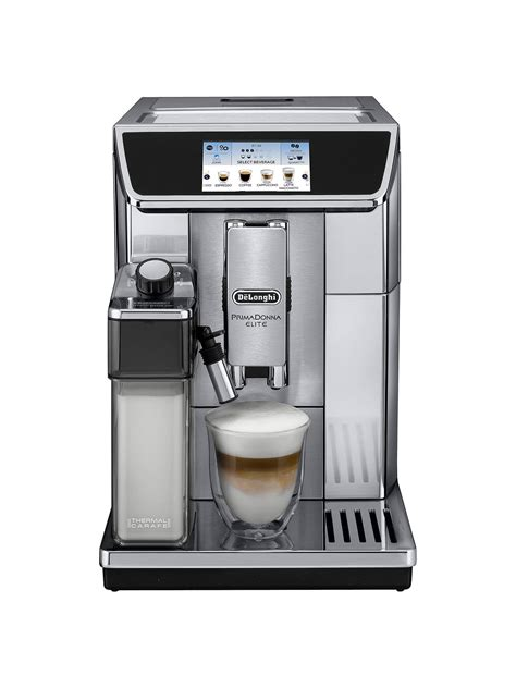 We are a family owned coffee equipment supplier in. De'Longhi Prima Donna Elite Bean-to-Cup Coffee Machine, Silver at John Lewis & Partners