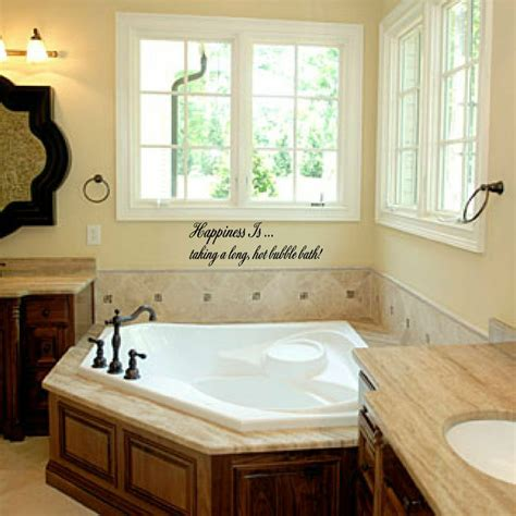 How To Decorate A Bathroom Wall - happiness is taking a bath vinyl wall