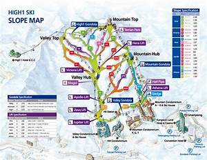High1 Piste Map High1 Ski Resort South Korea,