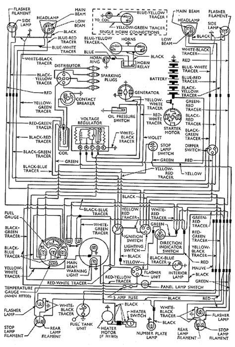 138: wiring diagram 100E Anglia, Prefect DeLuxe, Escort