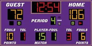 Model Lx2665 Basketball Scoreboard