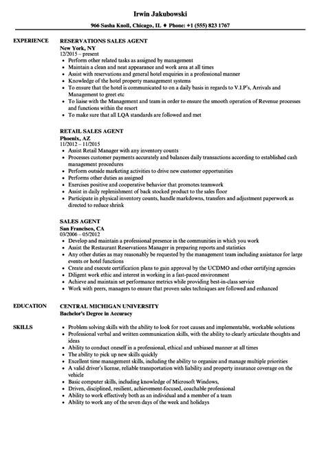 sales agent resume samples velvet jobs